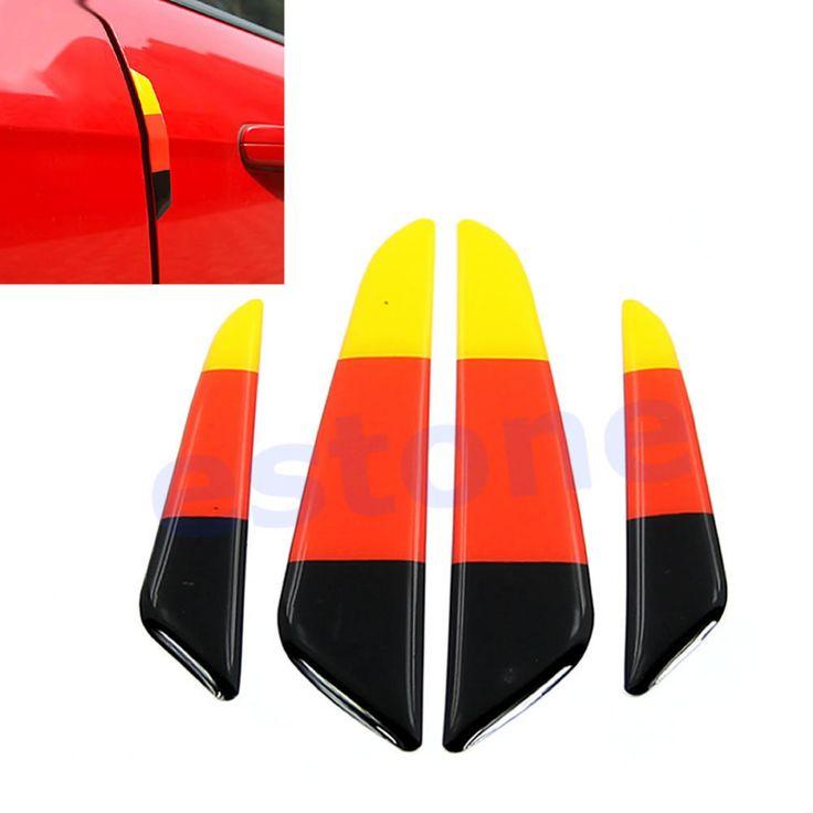 B86  бесплатная доставка новые прибытия горячей 4 шт./компл. флаг германии авто неломающийся оптово-rub клей бампер двери автомобиля протектор газа