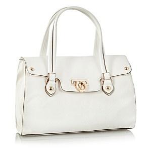 Valentino White flip clasp bowling bag - Shopper & tote bags - Handbags & purses - Women - Debenhams Mobile
