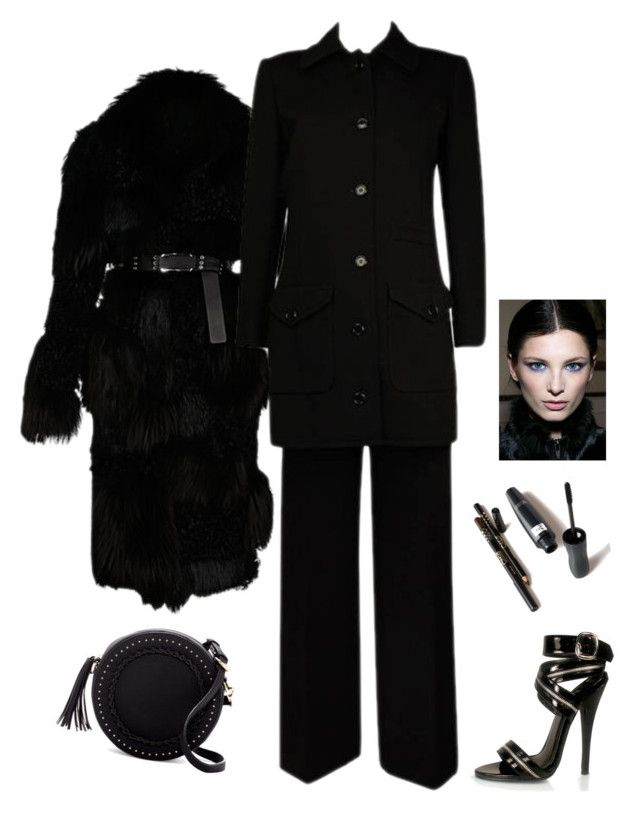 """""""Wool Coat for Fall"""" by kotnourka ❤ liked on Polyvore featuring Yves Saint Laurent, Pleaser and Urban Expressions"""