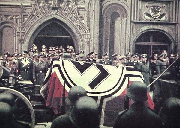"""Erwin Rommel funeral- Hitler believed that Rommel was part of an assassination plot on his life, after declaring him a hero to Germans he couldn't have him killed so he sent officers to his house giving him the choice of biting down on a cry aide capsule or have his family and aides punished. Rommel said goodbye to his Son saying,""""I will be dead in 15 minutes. Even my funeral is planned."""""""