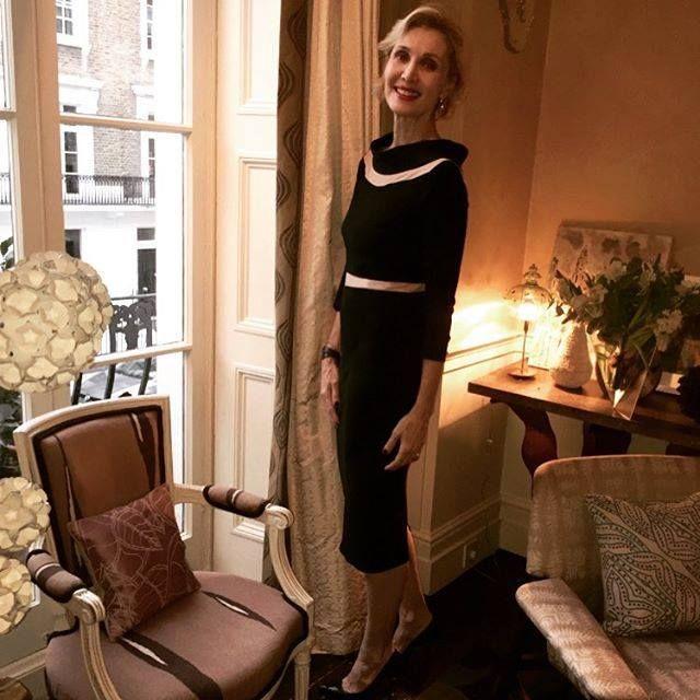 Beautiful and elegant Allegra Hicks wearing our versatile little black dress, Ava.