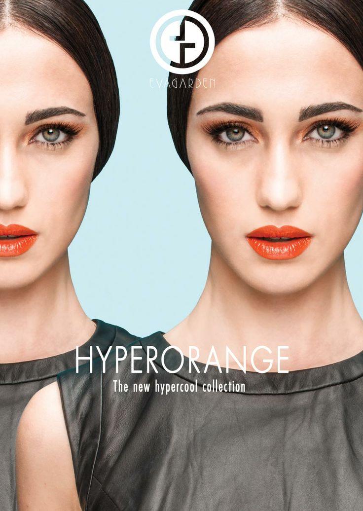 Hyper-energetic , Hyper-chic, Hyper-trendy! La propuesta de EVAGARDEN revive un color que siempre va conectado con la energía y la vitalidad. Símbolo de entusiasmo, creatividad de confianza en uno mismo y en los otros. Los colores naranjas simbolizan incluso la sabiduría, el equilibrio y la ambición. Nuevos esquemas de belleza, para una mujer New-Classy, reina del estilo, el glamour y la autoconfianza. Hyperorange es el secreto para un look perfecto durante todo el día.
