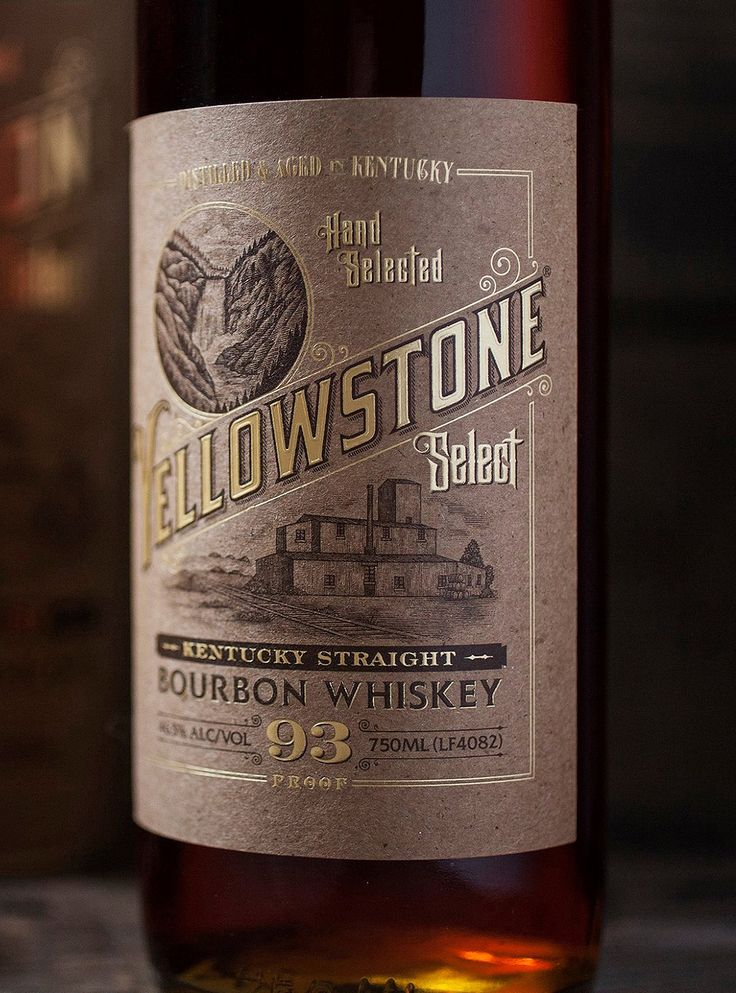 Yellowstone Bourbon Whiskey Illustrated by Steven Noble on Behance