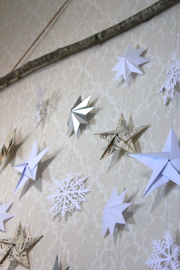 Vika julstjärnor i papp