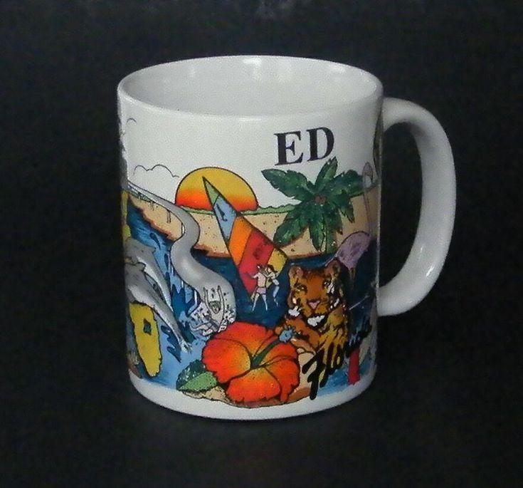 Florida coffee mug personalized ed cup souvenir palm tree