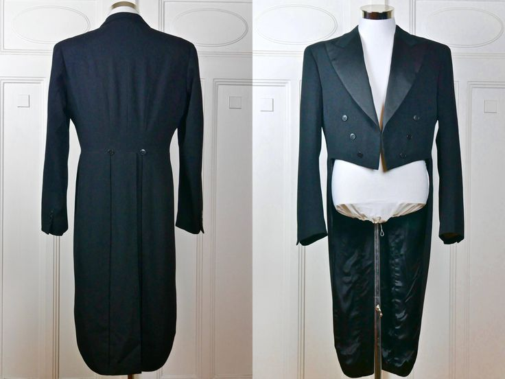 Black Evening Tailcoat, 1960s Swedish Vintage Tuxedo w Tails, Black Wool Full-Dress Tailcoat, Steampunk Jacket: Large, 40 US/UK by YouLookAmazing on Etsy