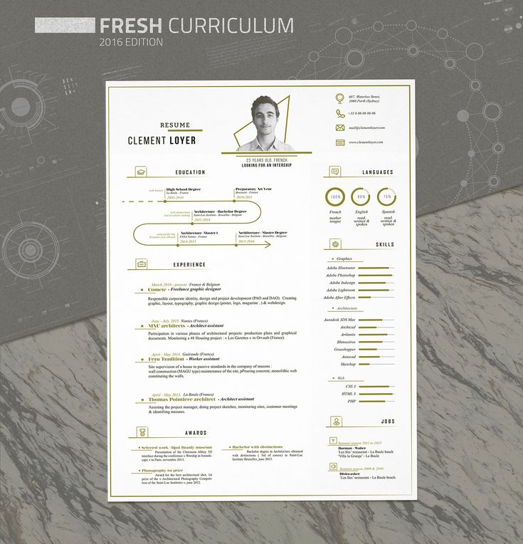 Here is my fresh new resume, showing skills, education and work experience. You can download it for free at the bottom of the page. The curriculum is a template that you can download for free at the bottom of the page ;)