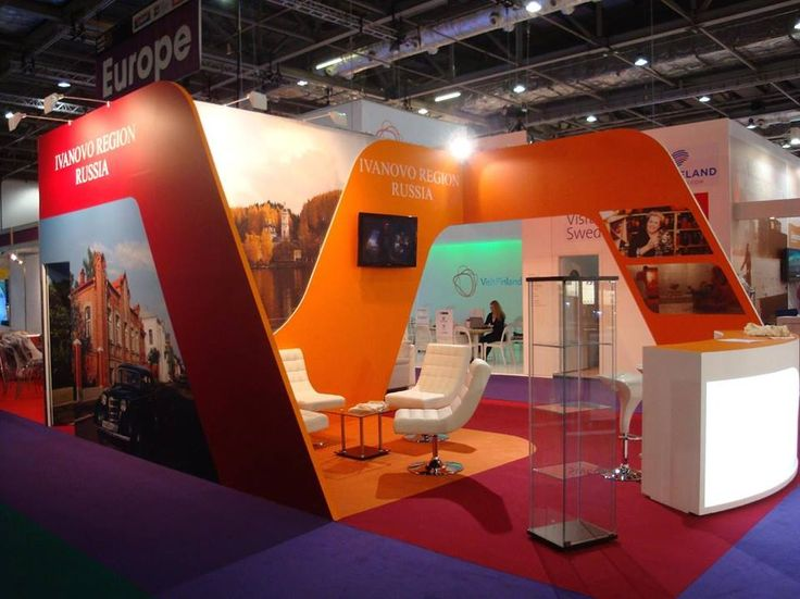 Stand Ivanovo Region on WTM 2014 London #buildup #gc_granat #design #exhibitionbooth