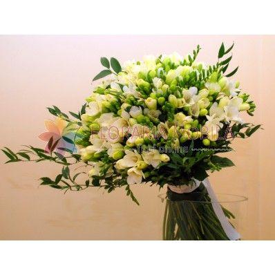 buchet 101 frezii / 101 freesia bouquet