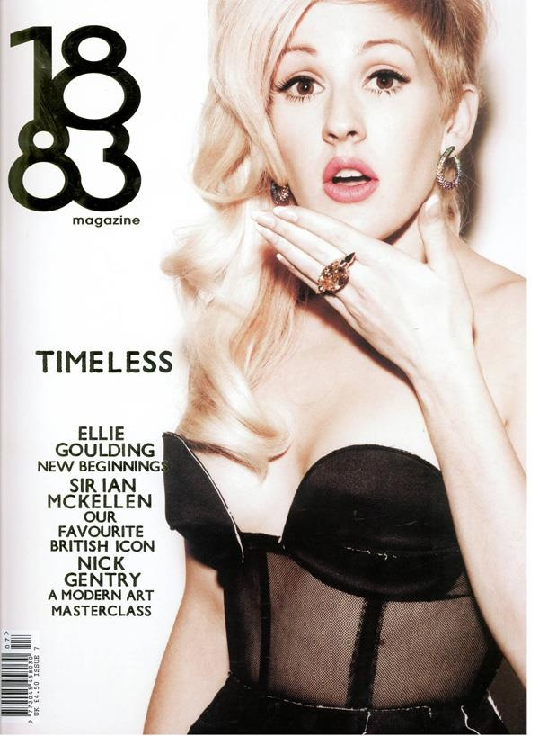 "Ellie Goulding  is covergirl on the new issue of 1883 Magazine. There is also an eight-page spread featuring more glamorous photos and an interview with Ellie.  her new cd ""halcyon""{imo}is one of the 10 best of 2012...."