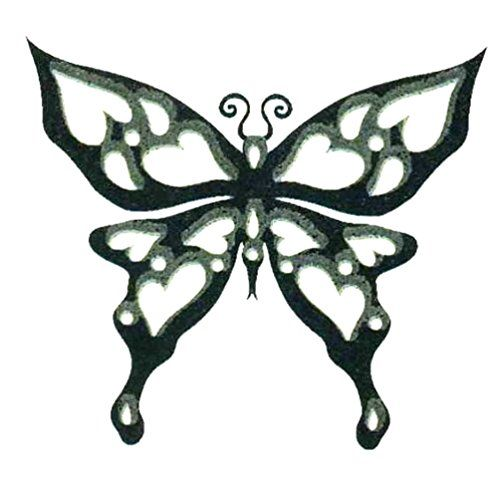 Glow in Dark Butterfly Temporary Body Art Tattoos 2 x 2 >>> Read more reviews of the product by visiting the link on the image.(It is Amazon affiliate link) #2018