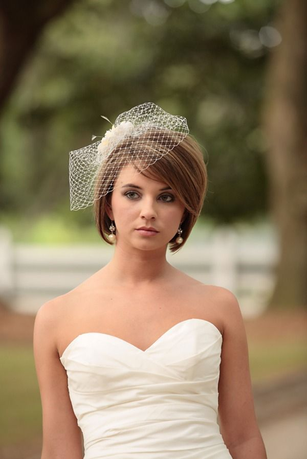 Резултат слика за wedding headpieces for short hair