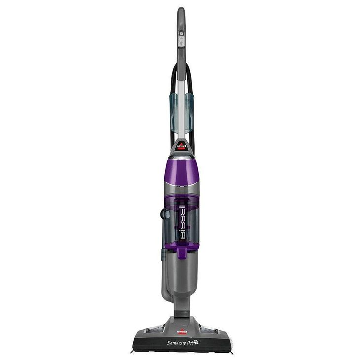 Bissell Symphony Pet Steam Mop and Steam Vacuum Cleaner for Hardwood and Tile Floors, with Microfiber Mop Pads, 1543