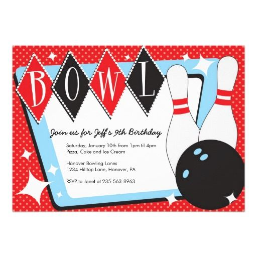 53 best Bowling: Invitation Ideas images on Pinterest