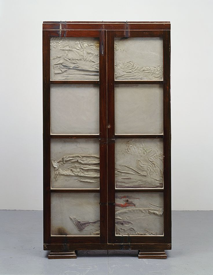 #DorisSalcedo Doris Salcedo. untitled. concrete and wood cupboard