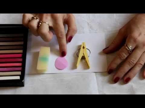 МК тонировки фоамирана сухой пастелью - YouTube