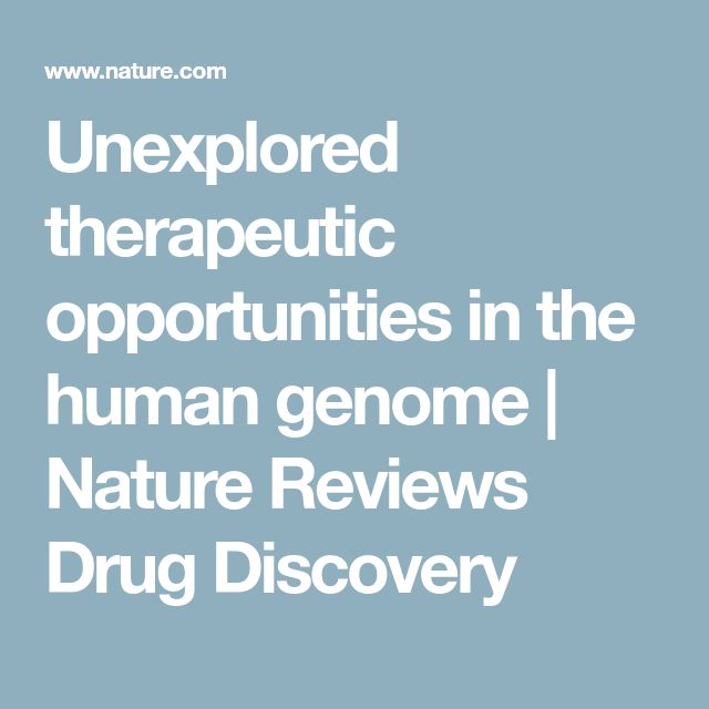 Unexplored therapeutic opportunities in the human genome | Nature Reviews Drug Discovery