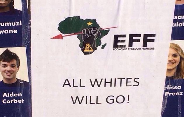 EFF denies knowledge of whites will go poster at varsity