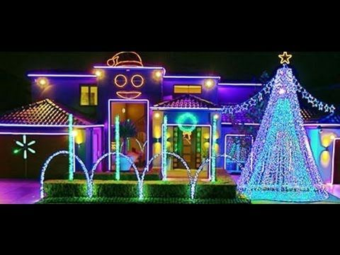 Amazing Dubstep Christmas Light Show