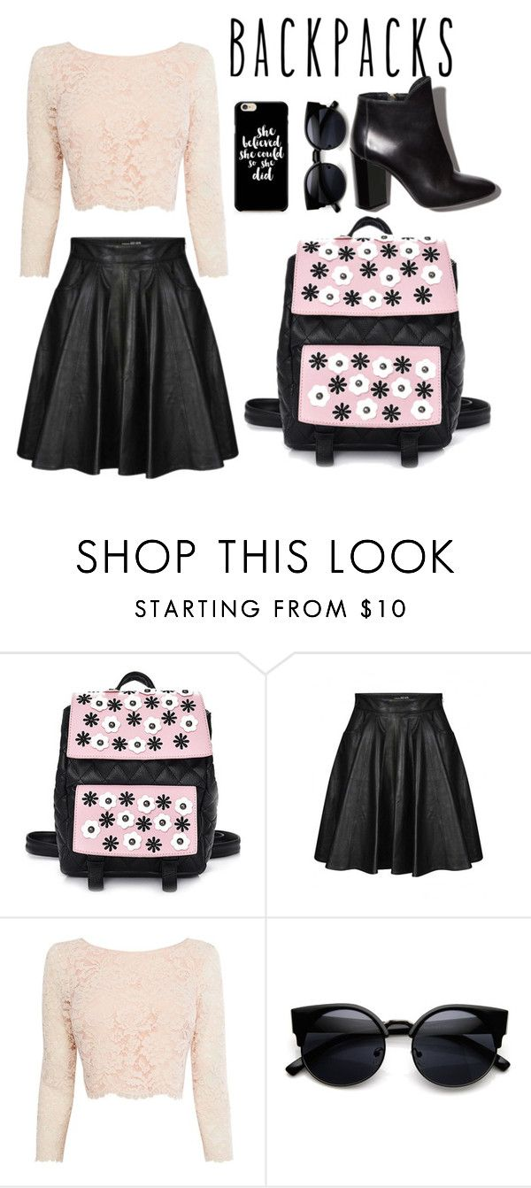 """""""Untitled #294"""" by shelllbyy ❤ liked on Polyvore featuring Jeremy Scott, Coast, Pierre Hardy, backpacks, contestentry and PVStyleInsiderContest"""