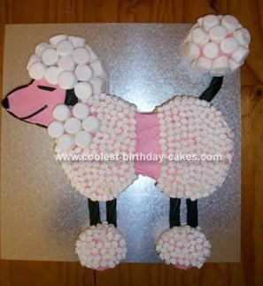 Homemade Poodle Birthday Cake: This Poodle Birthday Cake was made by my mum for my 21st birthday.  For my birthday I had a Grease themed party so the poodle fittd right into the theme.