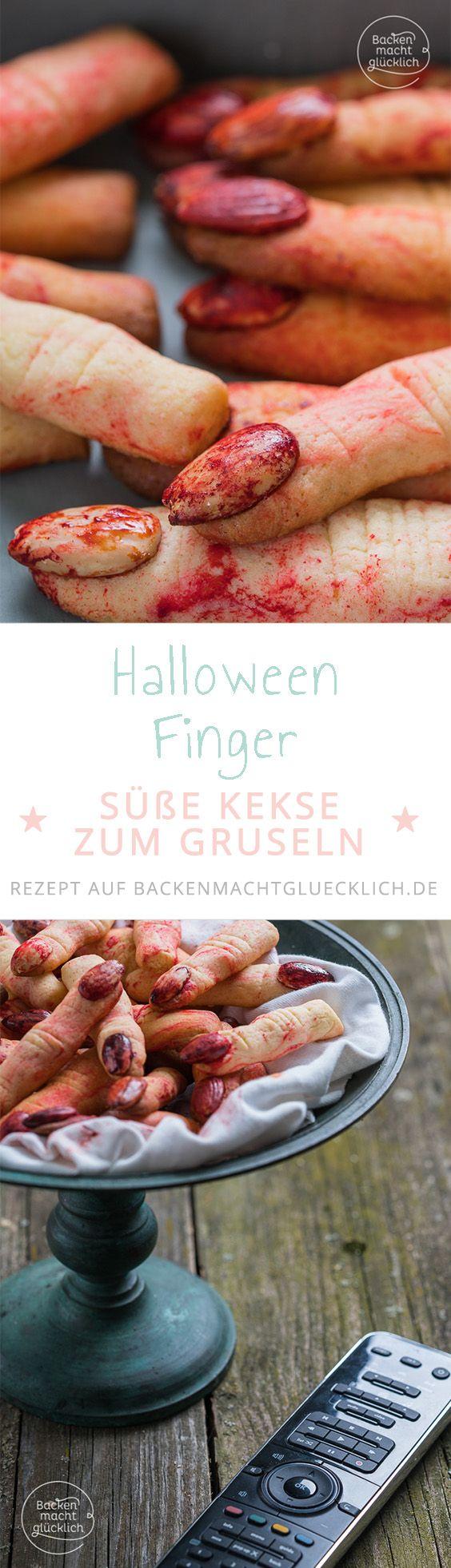 Backen für Halloween! Mit diesen schaurigen Keksen gruselt sich an Halloween garantiert jeder am Halloween-Buffet.