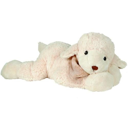 "The Big Lefty is a cute lamb with a cozy little plush scarf around his neck. He is very soft to hold and hug.  Measures 50 cm. long. (19.5"").  #toyanimal #toy #teddy #gift #lamb #forbaby #baby"