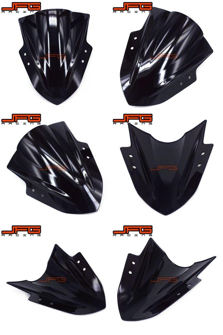 [Visit to Buy] Black Windscreen Windshield for Kawasaki NINJA 300 300R EX300R 2013-2016 2013 2014 2015 2016 #Advertisement