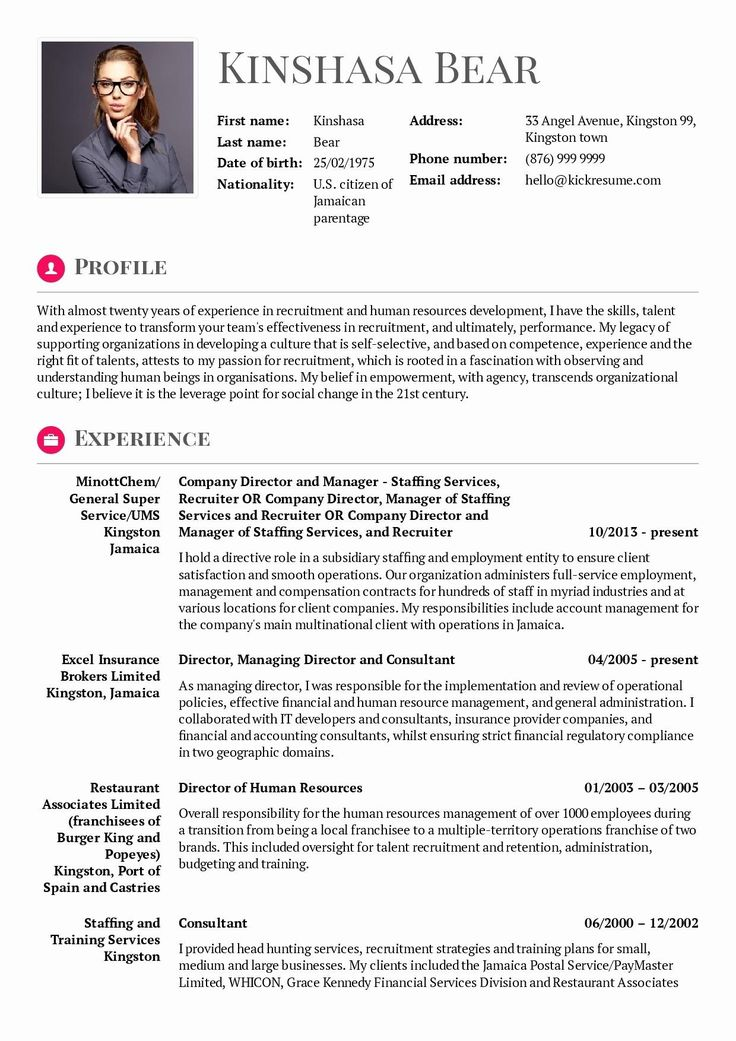 68 Awesome Photos Of Example Of Resume Hrm Human Resources Resume Resume Examples Resume Words