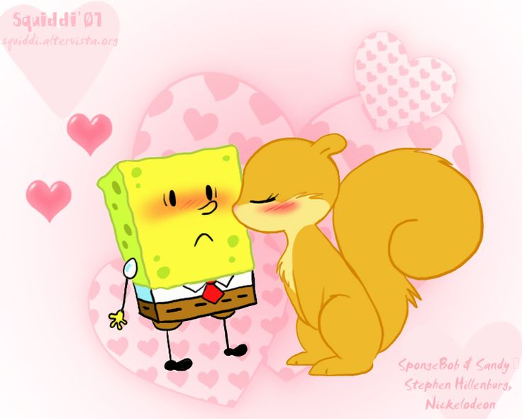 Chibi SpongeBob and Sandy by *StePandy on deviantART