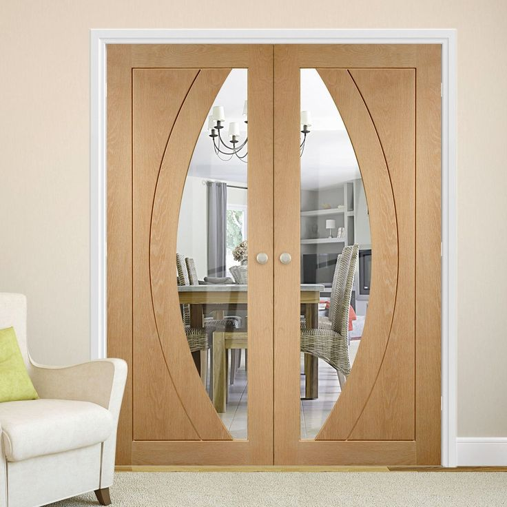 Bespoke Salerno Oak Glazed Door Pair.  #oakdoubledoors #interiordoorpair #bespokedoubledoors