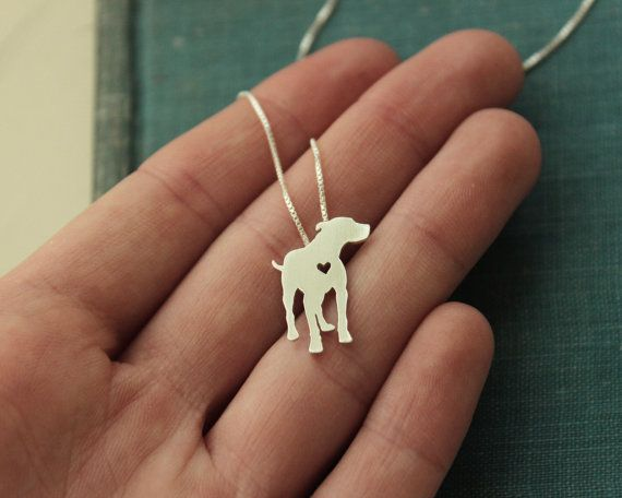 Pitt Bull sterling silver necklace hand made by justplainsimple. I want a custom one of my mutts!