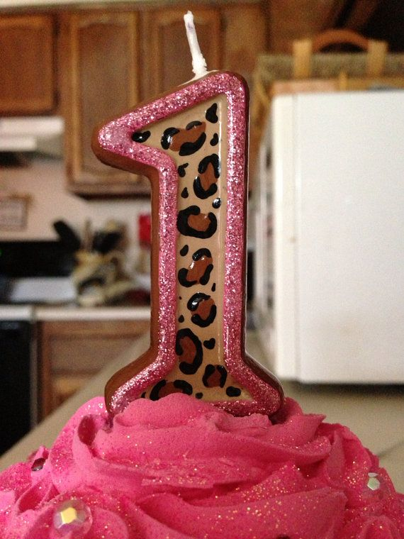 Leopard Birthday Candle on Etsy, $8.00