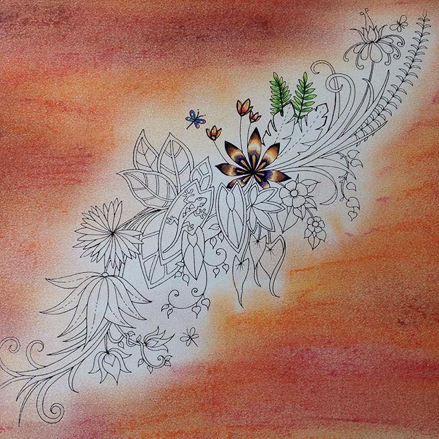 Magical jungle from Johanna 🍀#johannabasford #pencils #coloringforadults #adultcoloring #coloringbooks #color #magicaljungle #johannabasfordsecretgarden #johannabasfordlostocean #polychromos #softpastel #softpastels #colorindo#jardimsecretoinspire#colorindo