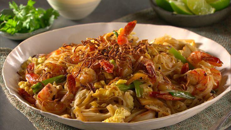 Easy shrimp pad thai   Food--Seafood   Pinterest