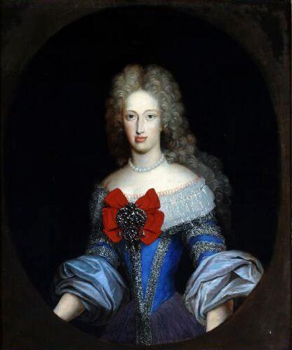Retrato de Mariana de Neoburgo, reina de España, por W. Humer.