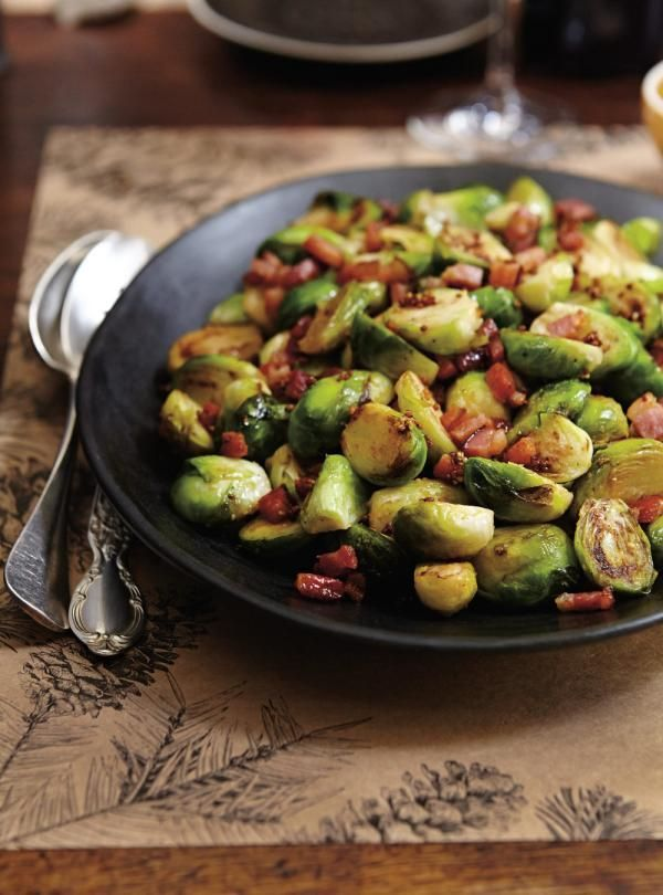 Roasted Brussels Sprouts with Mustard and Bacon | RICARDO