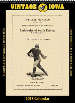 2013 Vintage Iowa Hawkeyes Football Calendar: For the sports lover in your life, a great gift!