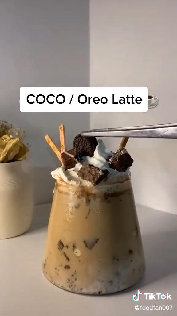 Easy COCO/Oreo Latte Recipe At Home Food TikTok Video in ...
