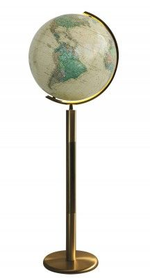 The Columbus Rosenheim Illuminated Floor #Globe showcases an antique map on a glass sphere and tall brass floor stand #illuminatedglobes #globes #worldglobe #worldglobes #floorglobes #education #geography #teaching #vintage #gift #cartography #design #furniture #interiordesign #craft #handcrafted #handmade #artisan #birthday #classic #decor #homedecor #antique #illuminatedglobe #illuminated #desk #table #desktop #antique #glasswork #furniture #modern #contemporary #style