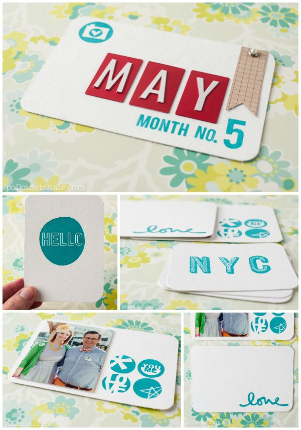 DIY Studio Calico Letterpress Project Life Cards