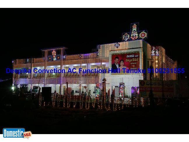 Tanuku Function Hall Deepika AC Convetion Contact: 08819-231555, 9100231555 Deepika Convention Function Hall, CanalRd, Peravali, Tanuku, W.G.Dist. is a good function hall for ...