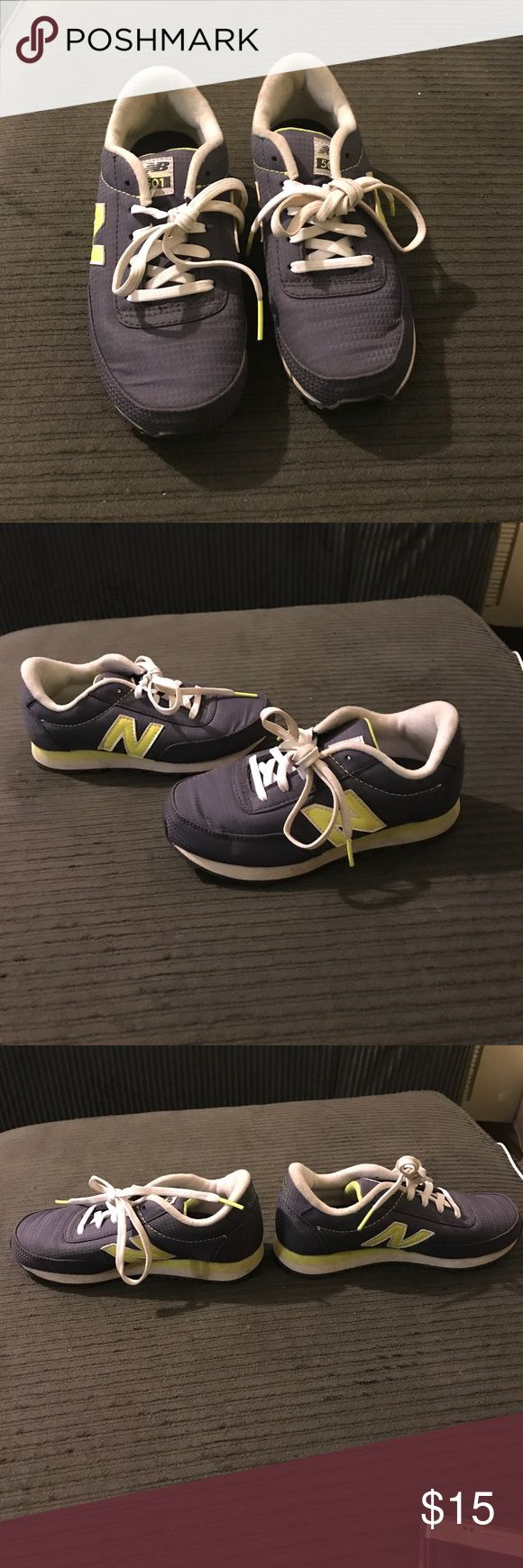New Balance Grey & Neon Yellow Running Sneakers Girls New Balance Grey & Neon Yellow Sneakers in Great Condition worn once New Balance Shoes Sneakers