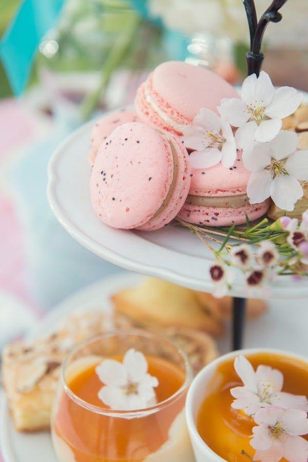 パーティで出したい桜マカロン♡ 桜の時期のウェディングのアイデア。結婚式/ブライダルの参考に☆