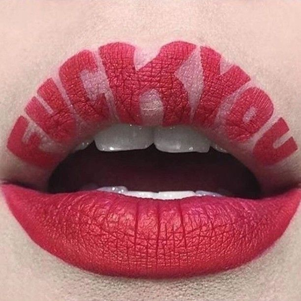Fuck You Lip Art