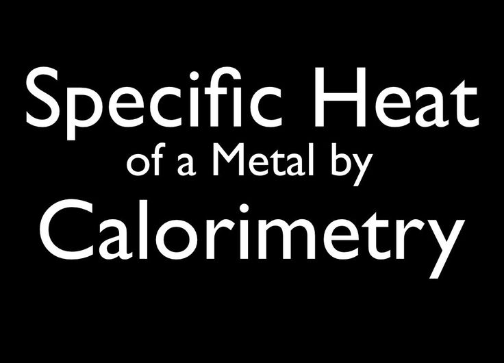 how to find specific heat capacity of unknown metal