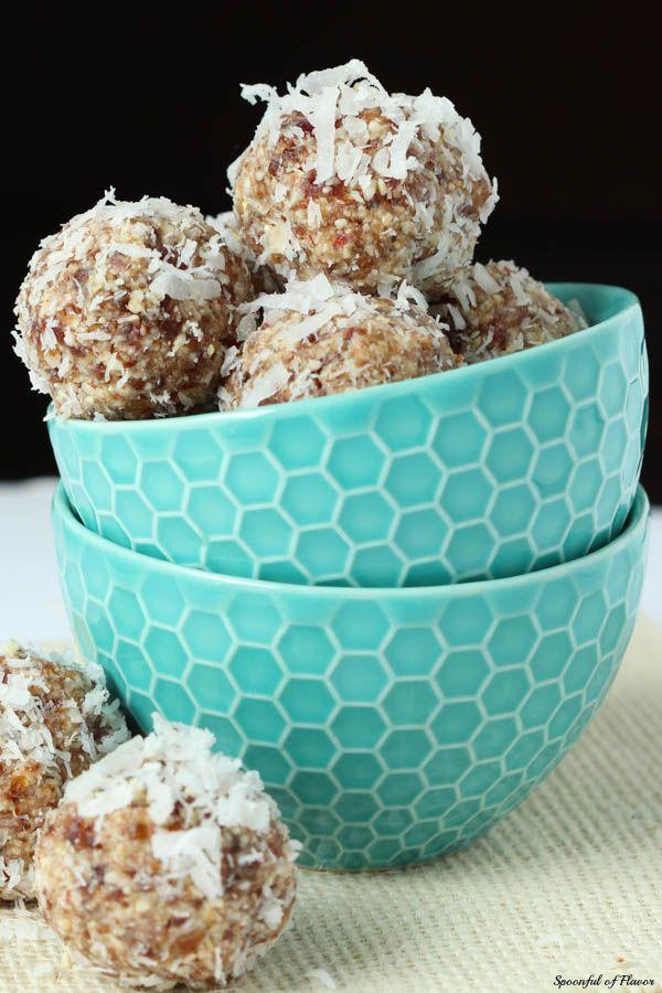 Coconut Cream Pie Energy Bites #paleo #vegan #recipe