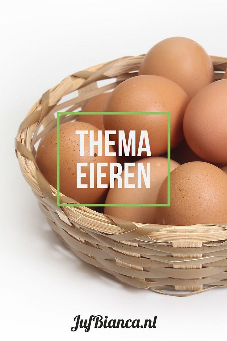 Leuke ideeën om het thema eieren uit te werken bij kleuters, met lessuggesties en materialen. Er ligt een vreemd ei in de klas. Van wie zou het zijn?