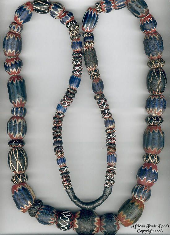 Trade Beads | Venetian chevron beads. The proper, old-school ones.