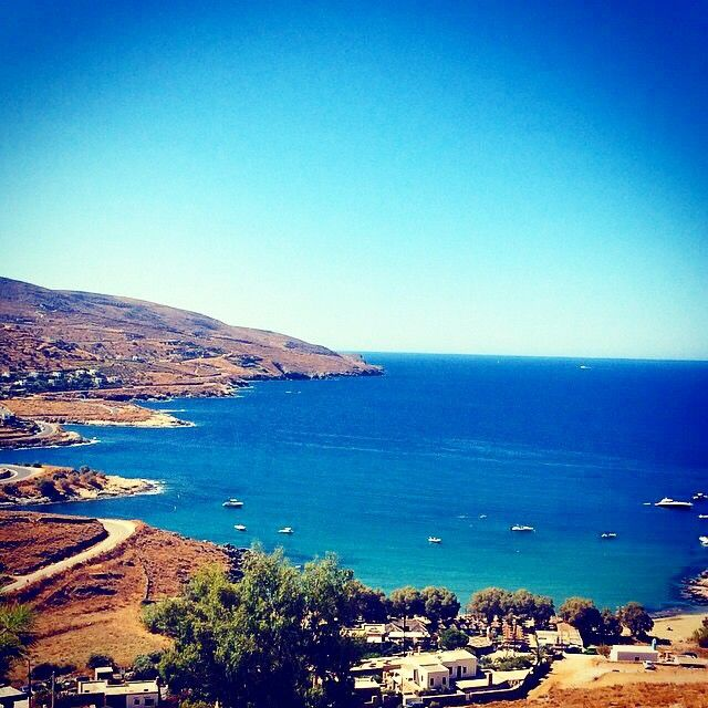 This beautiful place called Koundouros beach , in Kea-Tzia island (Κέα-Τζιά) . . . And it's ready for you to relax under the wonderful sky & sun